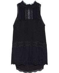 Jonathan Simkhai - Lace-trimmed Tulle Top - Lyst