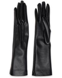 fc39f7648 Stella McCartney - Woman Faux Leather Gloves Black - Lyst