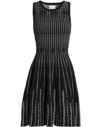 MILLY - Flared Jacquard-knit Dress - Lyst