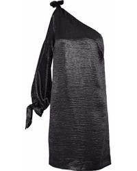 Rebecca Minkoff - Nash One-shoulder Cutout Crinkled-satin Mini Dress - Lyst