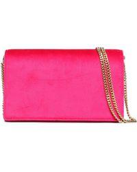 Diane von Furstenberg - Leather-paneled Velvet Shoulder Bag - Lyst