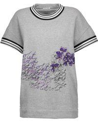 Tomas Maier - Embroidered Cotton Sweatshirt - Lyst