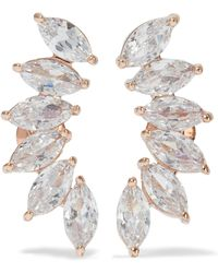 CZ by Kenneth Jay Lane - Rose Gold-tone Crystal Earrings - Lyst