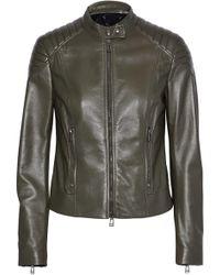 Belstaff - Mollison Leather Biker Jacket - Lyst