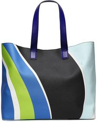 Emilio Pucci - Printed Faux Textured-leather Tote - Lyst