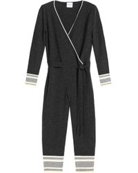 Madeleine Thompson - Wrap-effect Cropped Wool And Cashmere-blend Jumpsuit - Lyst