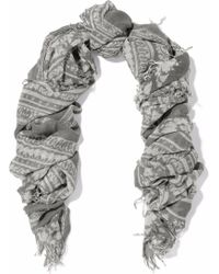Chan Luu - Fringed Printed Cashmere And Silk-blend Gauze Scarf - Lyst