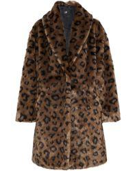 915a84c342ad Line - Olivia Leopard-print Faux Fur Coat Animal Print - Lyst
