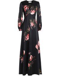 Sachin & Babi - Floral-print Silk-satin Gown - Lyst