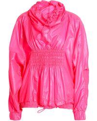 adidas By Stella McCartney - Woman Shirred Shell Jacket Bright Pink - Lyst