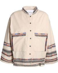 Velvet By Graham & Spencer - Bed-embellished Embroidered Cotton-canvas Jacket - Lyst