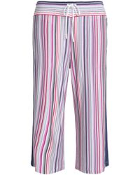 DKNY - Striped Stretch-modal Jersey Pyjama Trousers - Lyst