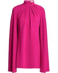 Emilio Pucci - Mini Dress In Pleated Crepe - Lyst