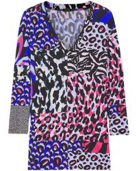 Versace - Printed Jersey Top - Lyst