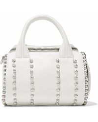 Alexander Wang - Rockie Studded Pebbled-leather Tote - Lyst