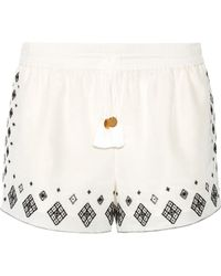 Rachel Zoe - Embroidered Silk And Cotton-blend Shorts - Lyst
