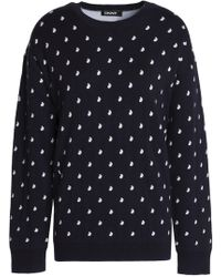 DKNY - Two-tone Knitted Sweater - Lyst
