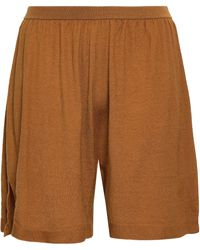 Rick Owens - Woman Cashmere-blend Shorts Mustard - Lyst