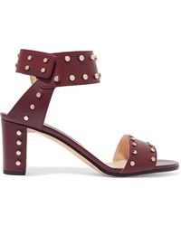 Jimmy Choo - Veto 65 Studded Leather Sandals - Lyst