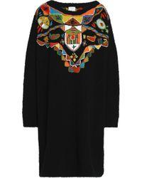Stella Jean - Embellished Bouclé-knit Dress - Lyst