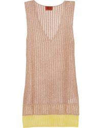 Missoni - Layered Metallic Ribbed-knit Top - Lyst