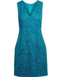 Adam Lippes - Cotton-blend Guipure Lace Mini Dress - Lyst