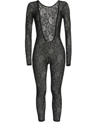 MSGM - Chantilly Lace Bodysuit - Lyst
