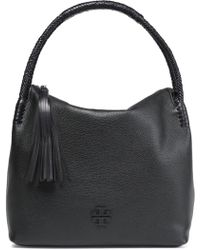 Tory Burch - Tasseled Textured Leather Tote - Lyst