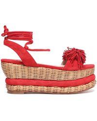 Paloma Barceló - Nance Fringed Suede Platform Sandals - Lyst