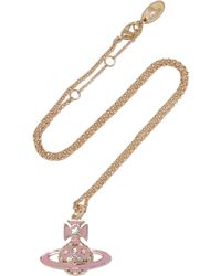 Vivienne Westwood Anglomania - Brianna Gold-tone Crystal And Enamel Necklace - Lyst
