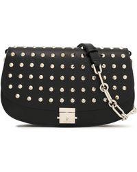 Michael Kors - Studded Leather Shoulder Bag - Lyst