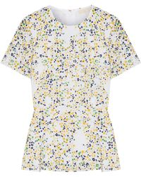MICHAEL Michael Kors - Woman Broderie Anglaise Printed Cotton Top White - Lyst