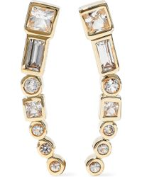 Elizabeth and James - Gold-tone Crystal Earrings - Lyst