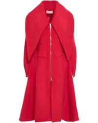 Antonio Berardi - Wool-blend Felt Coat Red - Lyst