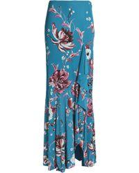 Roberto Cavalli - Floral-print Jersey Maxi Skirt - Lyst