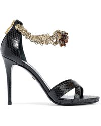 Roberto Cavalli - 105 Chain-embellished Ayers Sandals - Lyst