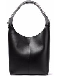 Alexander Wang - Woman Embellished Leather Tote Black - Lyst