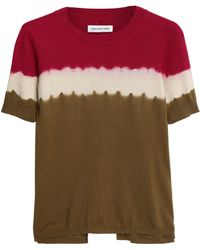 Étoile Isabel Marant - Tie-dyed Cotton And Cashmere-blend T-shirt Sage Green - Lyst