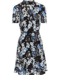 Erdem - Bow-embellished Floral-print Silk Dress - Lyst