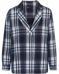 3x1 - Moxy Checked Cotton-flannel Blazer - Lyst
