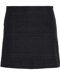 Vanessa Bruno Athé - Checked Wool-blend Mini Skirt - Lyst