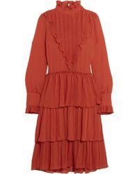 See By Chloé - Tiered Ruffled Chiffon Dress - Lyst