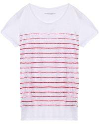 Majestic Filatures - Striped Slub Linen-jersey T-shirt - Lyst