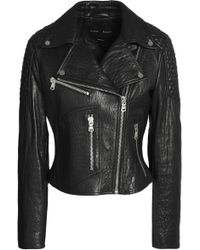 Proenza Schouler - Paneled Leather Biker Jacket - Lyst