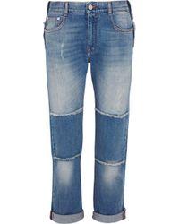 Stella McCartney - Patchwork Boyfriend Jeans Mid Denim - Lyst