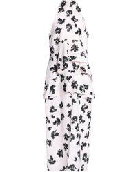 Proenza Schouler - Woman Printed Jacquard Peplum Midi Dress Pastel Pink - Lyst