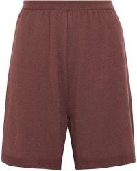 Rick Owens - Mélange Cashmere-blend Shorts - Lyst