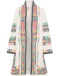 Figue - Fringe-trimmed Embroidered Cotton Jacket - Lyst