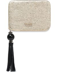 Kate Spade - Madison Evening Belles Zurie Metallic Embossed Leather Clutch - Lyst