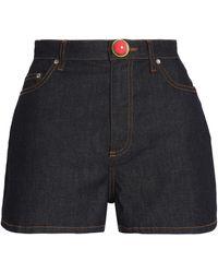 RED Valentino - Embellished Stretch-denim High-rise Shorts - Lyst